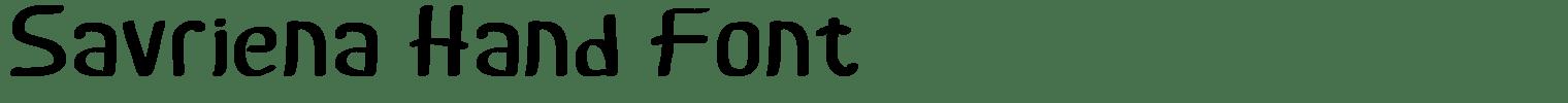 Savriena Hand Font