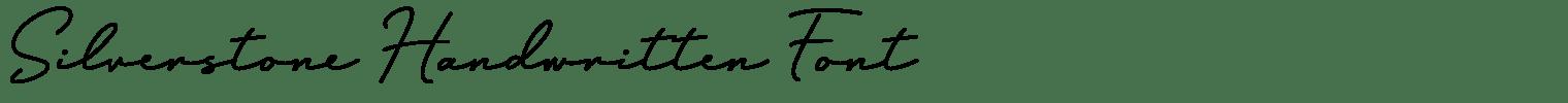 Silverstone Handwritten Font