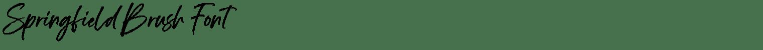 Springfield Brush Font