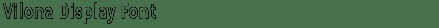 Vilona Display Font