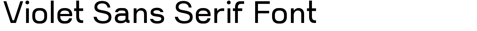 Violet Sans Serif Font