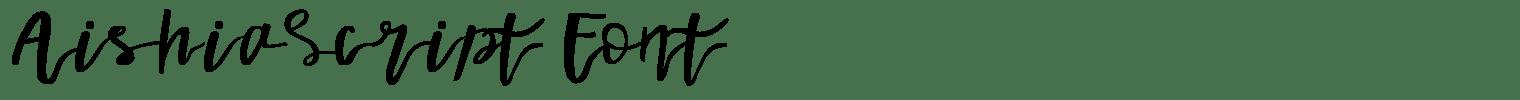 Aishia Script Font