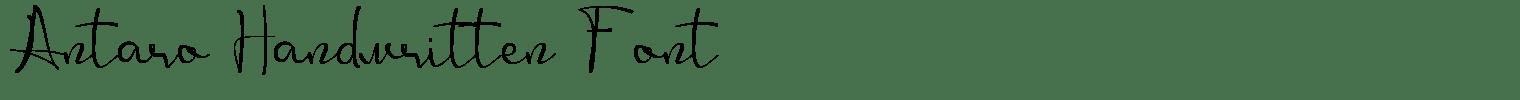 Antaro Handwritten Font