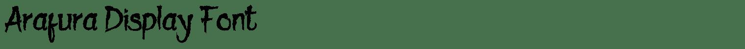 Arafura Display Font