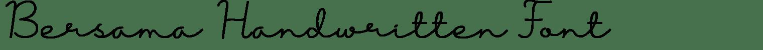 Bersama Handwritten Font