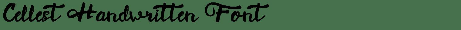 Cellest Handwritten Font