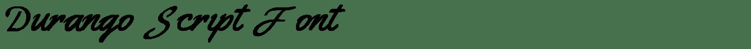 Durango Script Font