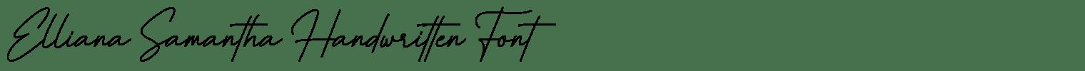 Elliana Samantha Handwritten Font