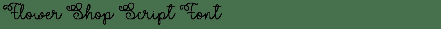 Flower Shop Script Font