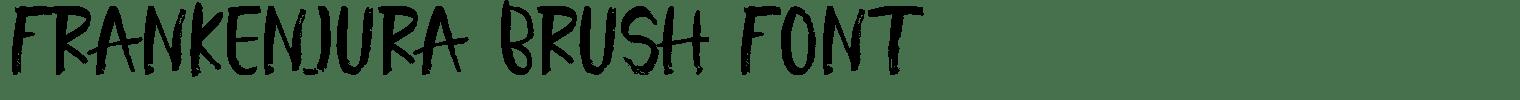 Frankenjura Brush Font