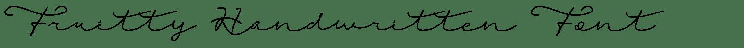 Fruitty Handwritten Font