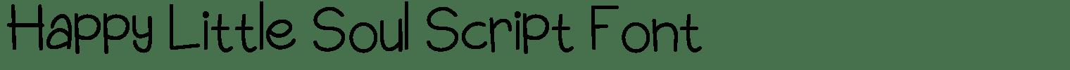 Happy Little Soul Script Font