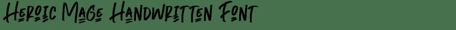 Heroic Mage Handwritten Font