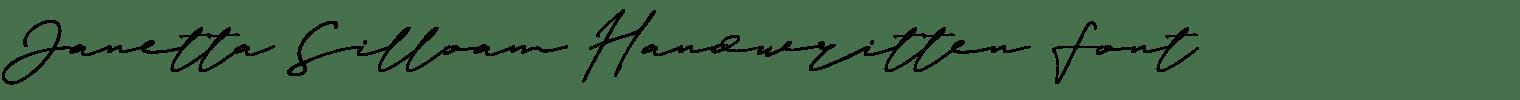 Janetta Silloam Handwritten Font