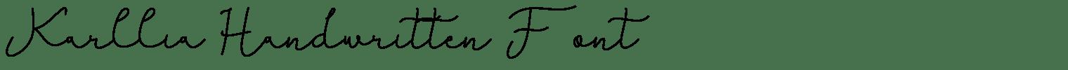 Karllia Handwritten Font