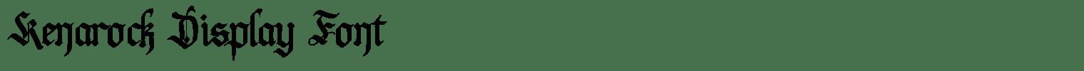 Kenarock Display Font