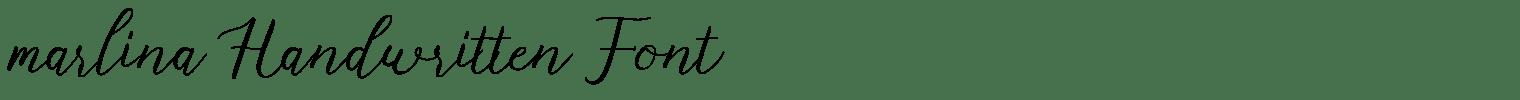 marlina Handwritten Font