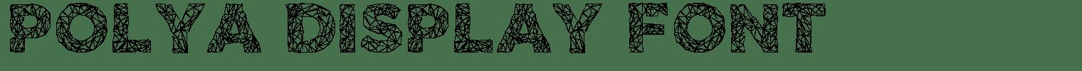 Polya Display Font