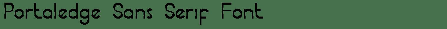Portaledge Sans Serif Font