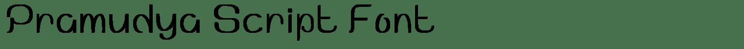 Pramudya Script Font