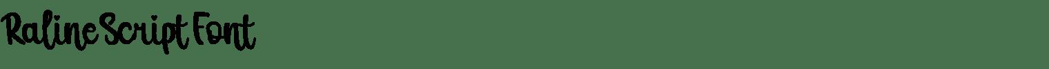 Raline Script Font