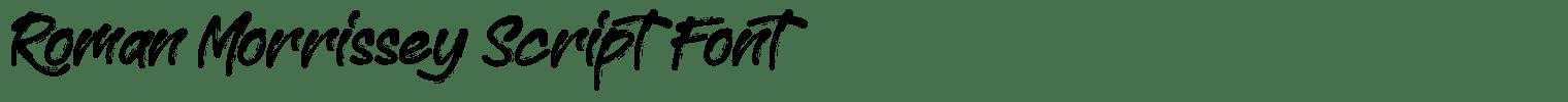 Roman Morrissey Script Font