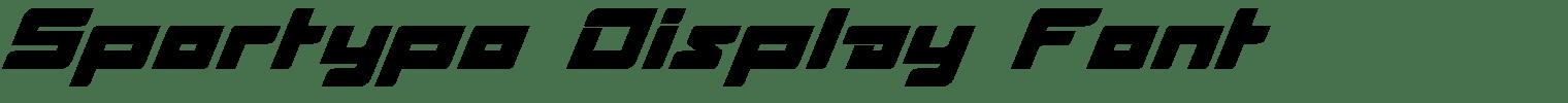 Sportypo Display Font