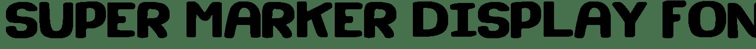 Super Marker Display Font