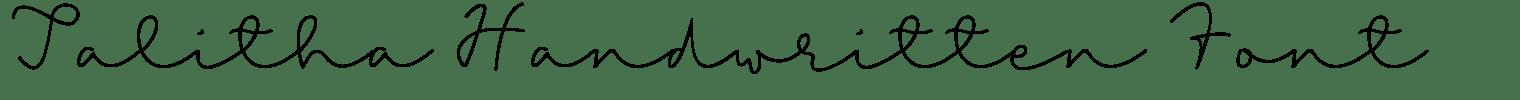 Talitha Handwritten Font