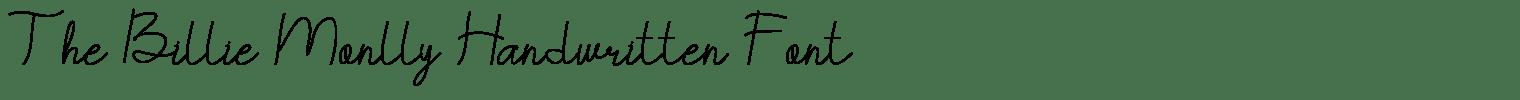 The Billie Monlly Handwritten Font