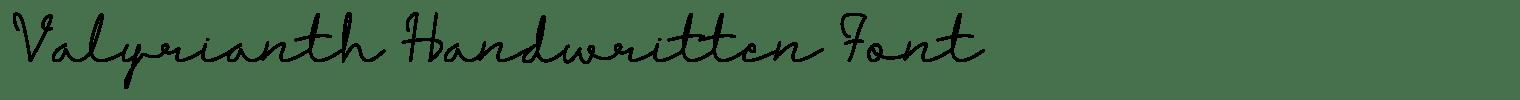 Valyrianth Handwritten Font