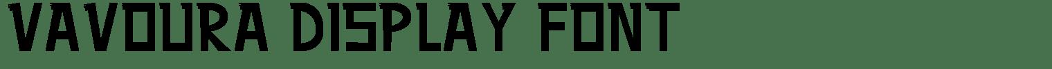 Vavoura Display Font