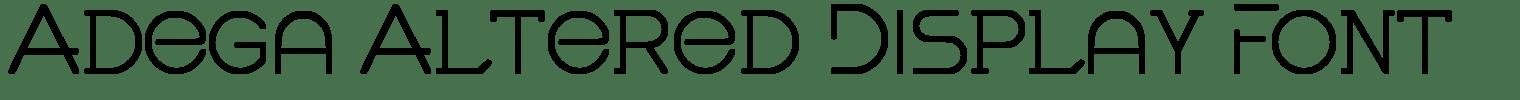 Adega Altered Display Font