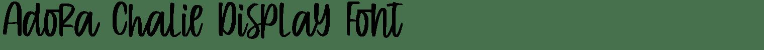 Adora Chalie Display Font