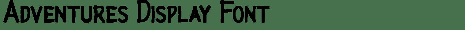 Adventures Display Font