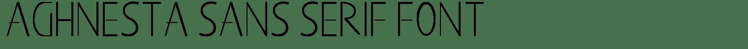 Aghnesta Sans Serif Font