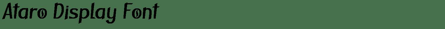 Ataro Display Font