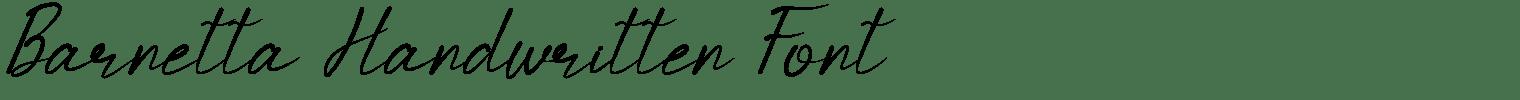 Barnetta Handwritten Font