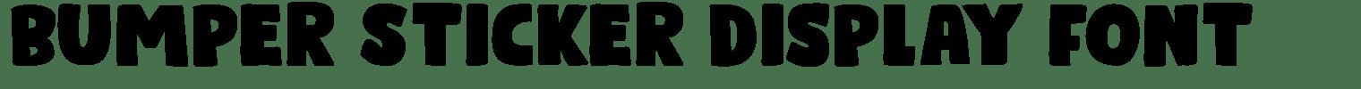 Bumper Sticker Display Font