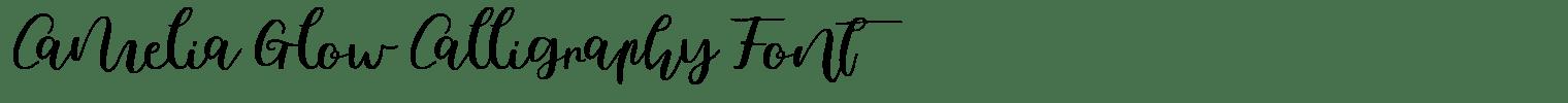 Camelia Glow Calligraphy Font
