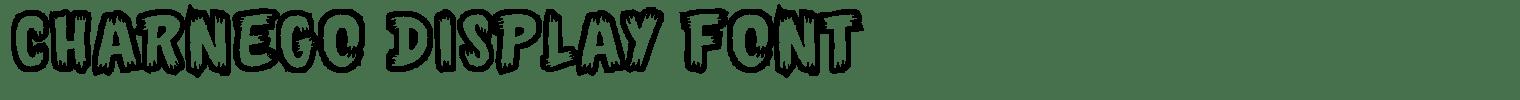 Charnego Display Font