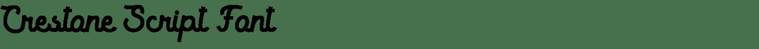 Crestone Script Font