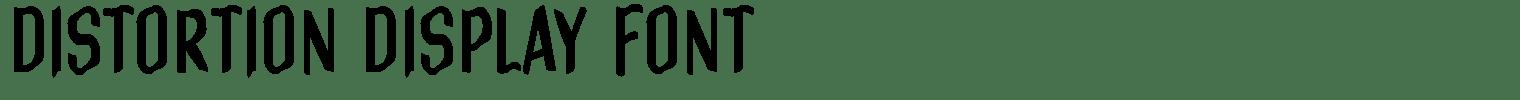 Distortion Display Font