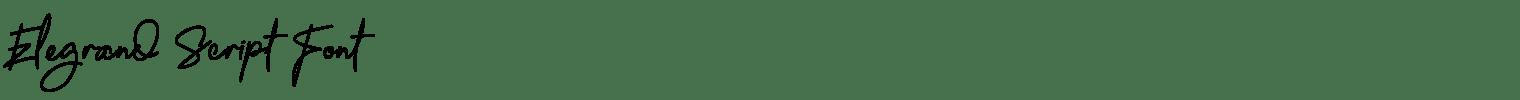 Elegrand Script Font