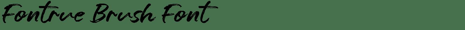 Fontrue Brush Font