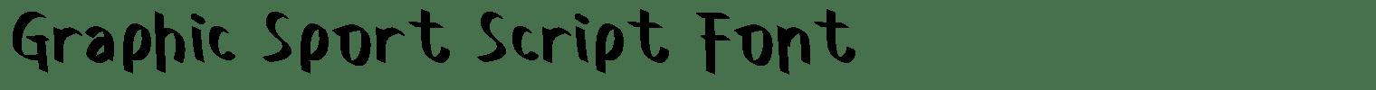 Graphic Sport Script Font