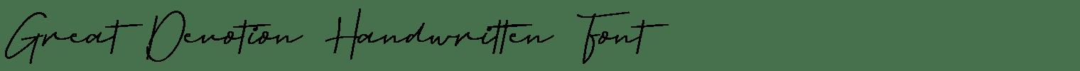 Great Devotion Handwritten Font