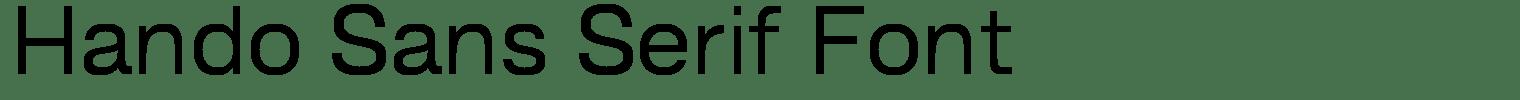 Hando Sans Serif Font