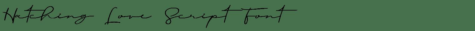 Hatching Love Script Font