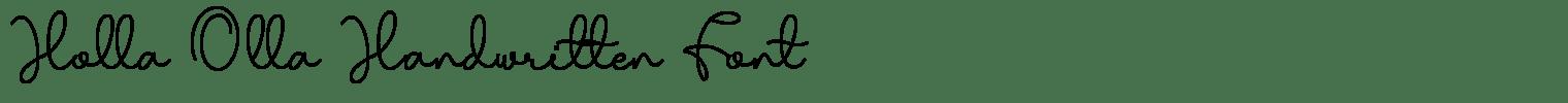 Holla Olla Handwritten Font
